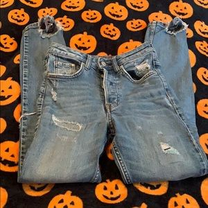 Size 25 Super Distressed Skinny High Waisted Jeans